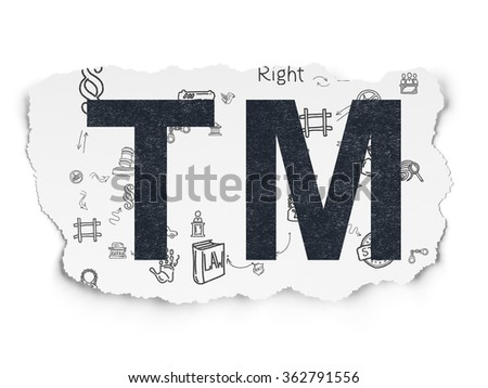 Law concept: Trademark on Torn Paper background - stock photo