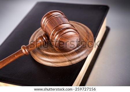 Law, court, attorney. - stock photo
