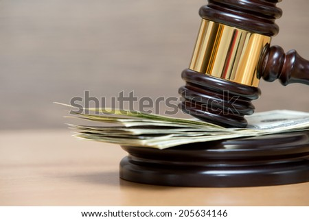 Law gavel  - stock photo