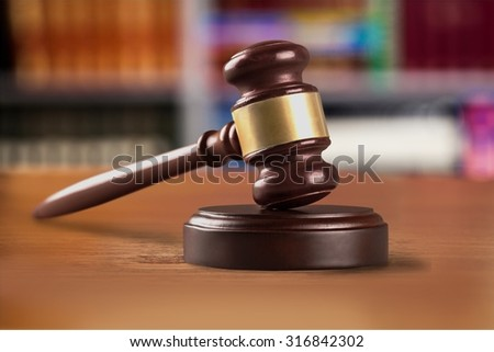 Law gavel. - stock photo