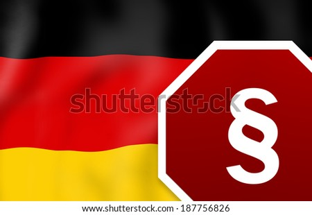 Law Germany - stock photo