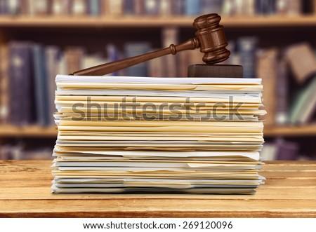 Law, Legislation, Document. - stock photo