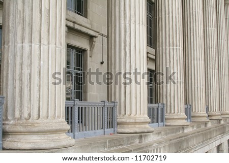 Law School Building Made of Stone and Cement during the day - stock photo