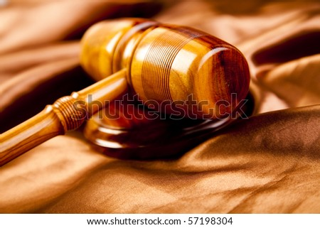 Law theme, mallet of judge! - stock photo
