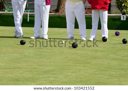 Lawn bowls - stock photo