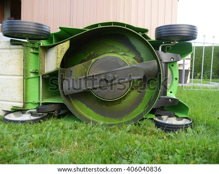 lawn mower outdoors