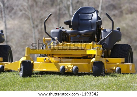 Lawn Mower (Zero Turn Tractor) - stock photo
