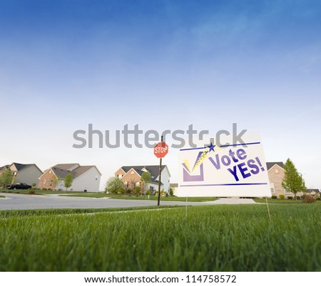 Lawn sign - stock photo