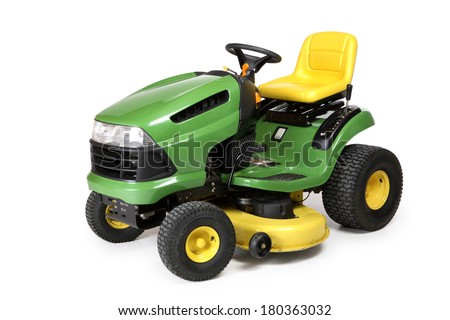 Lawn tractor - stock photo