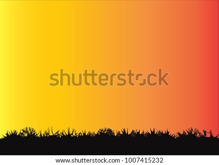 Lawn with gradient background