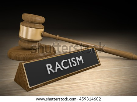 Laws against racism and discrimination, or other forms of prejudice, 3D rendering - stock photo