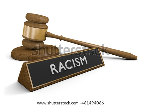 Laws and legislation against racism and discriminatory acts, 3D rendering