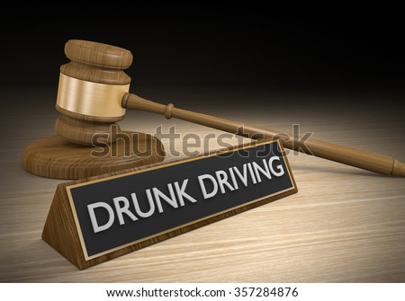 Laws and punishments for drinking and driving - stock photo