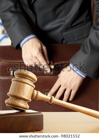 Lawyer in court - stock photo