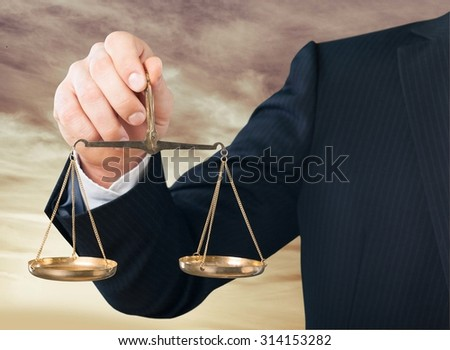 Lawyer scale. - stock photo