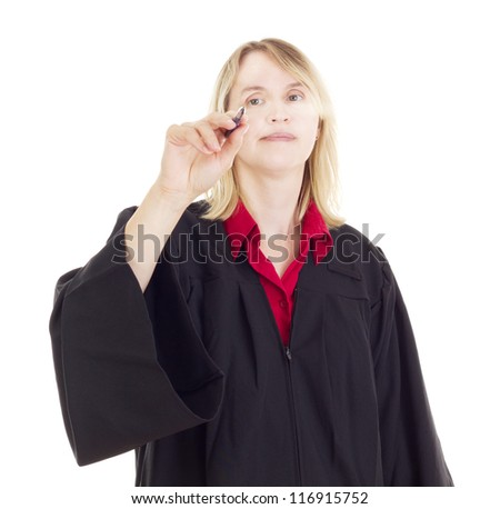Lawyer with pen - stock photo