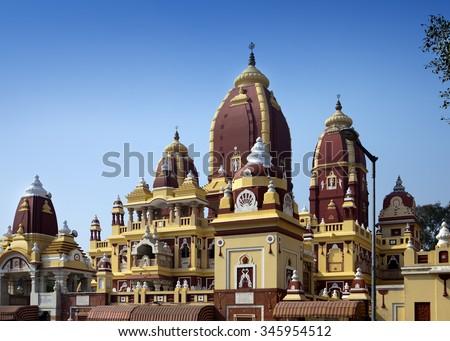 Laxmi Narayan temple, New Delhi, India - stock photo
