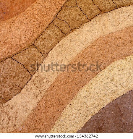 Layer of soil underground background - stock photo