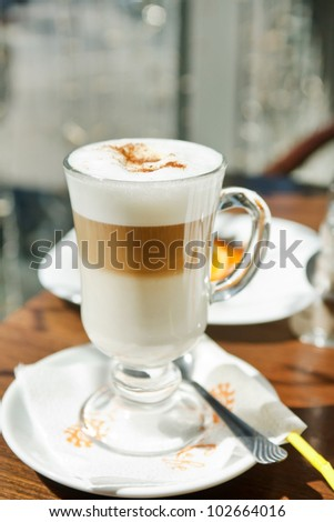 layered cappuccino - stock photo