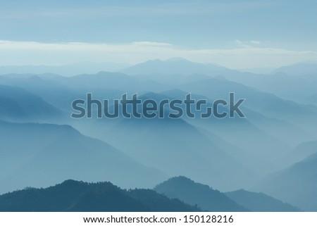 Layers of mountain - stock photo