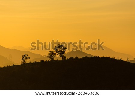 Layers of mountain, View of mountain from ThongPhaPhum National park, Thailand