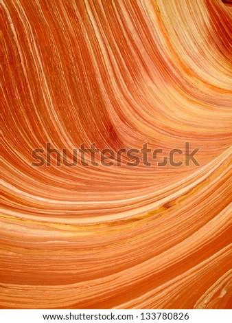 Layers of sandstone in desert - stock photo