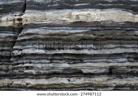 Layers of sandstone rock. - stock photo