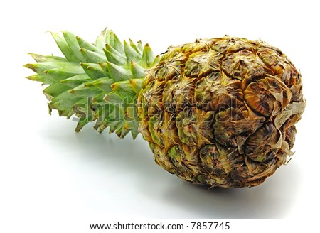 laying pineapple isolated on white