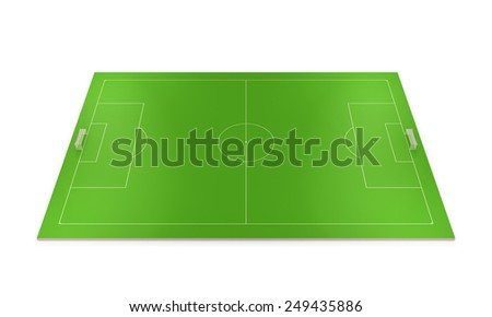 Layout football field isolated on white background. - stock photo