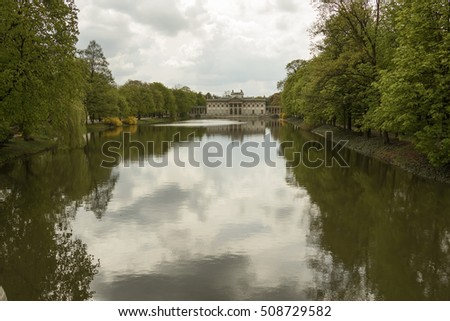 Lazienki Palace (also called Palace on the Water), Warsaw, Poland