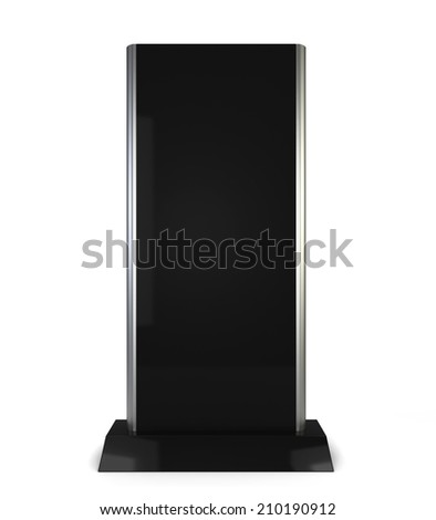 Lcd display stand. 3d illustration isolated on white background  - stock photo