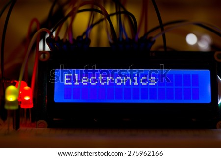 lcd display with text - stock photo