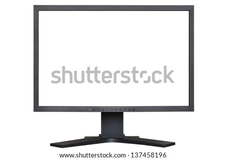 LCD Monitor with white space ready to paste picture