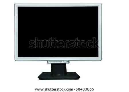LCD screen Computer - stock photo