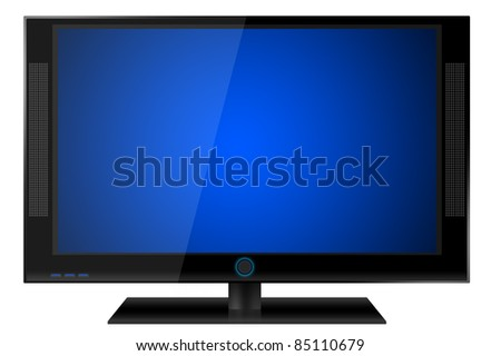 LCD TV - stock photo
