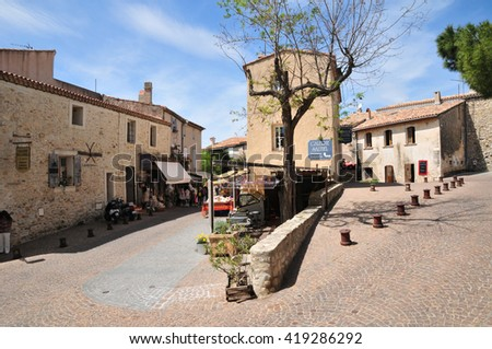 Le Castellet, France - april 20 2016 : the picturesque village in spring