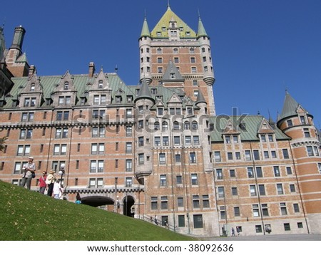 Le Chateau Frontenac in Quebec City, Canada - stock photo