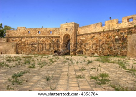 Le Fort de Espagne anno 1573 in Bizerte, Tunisia - stock photo