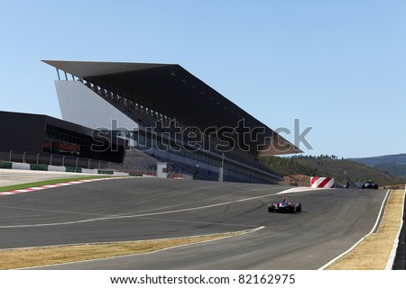LE MANS, ALGARVE, PORTUGAL - JULY 31: View of the grandstand and entrance to the Padock at the 24 hours endurance race at Le Mans Series. July 31 2009 in Algarve.