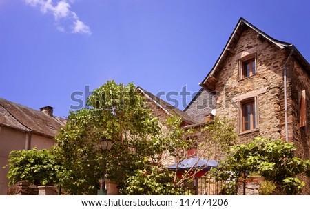 Le Saillant, French village. - stock photo