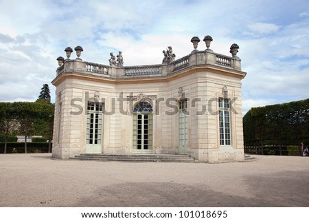 Le  Trianon and gardens in Versailles Chateau. France