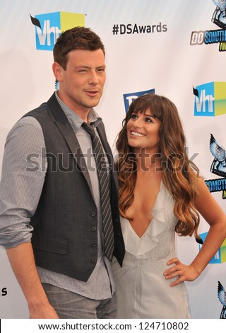 Lea Michele & Cory Monteith at the 2012 Do Something Awards at Barker Hangar. Santa Monica Airport. August 19, 2012  Santa Monica, CA Picture: Paul Smith