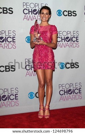 Lea Michelle at the 2013 People's Choice Awards Press Room, Nokia Theatre, Los Angeles, CA 01-09-13
