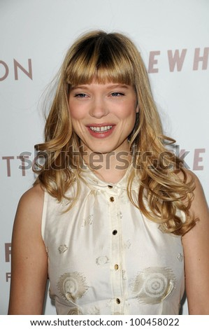 "Lea Seydoux at the Premiere Of Focus Features' ""Somewhere,"" Arclight Theater, Hollywod, CA. 12-07-10"