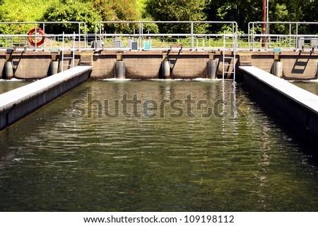 Leaburg Fish Hatchery - stock photo
