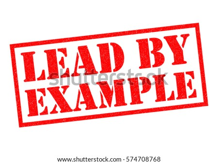 Lead By Example Red Rubber Stamp Stock Illustration 574708768