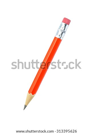 Lead pencil isolated on white background. - stock photo