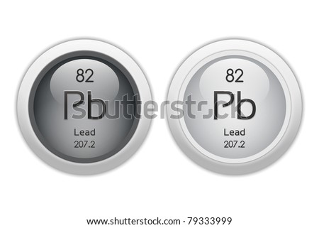 Lead Web Buttons Chemical Element Atomic Stock Illustration 79333999