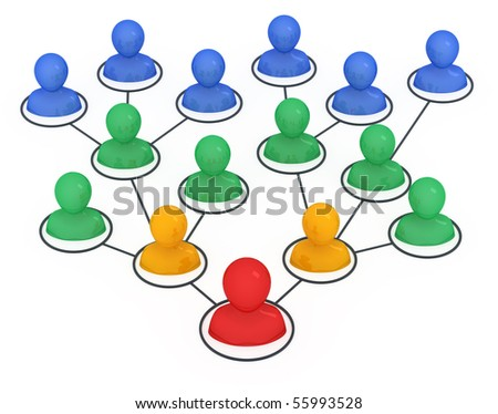 Leader of organization. Concept 3d illustration. - stock photo