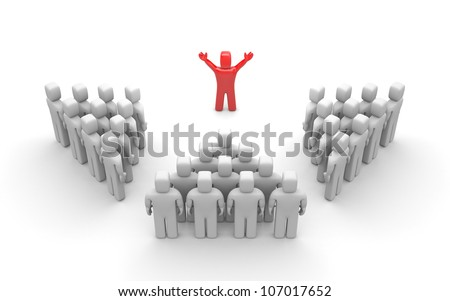 Leader of team. Image contain clipping path - stock photo